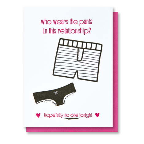 Funny Panties and Boxers Love card